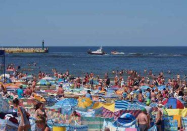 Tradycyjne zdjęcie na plaży